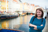 Girl in Nyhavn — Stock Photo