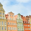 Facades of buildings in Wroclaw — Stock Photo