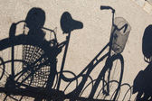 Shadow of a bicycle — Stock Photo