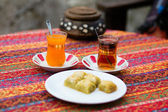 Orange and apple Turkish tea — Stock Photo