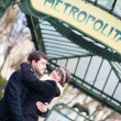 Couple in Paris — Stock fotografie