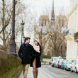 Couple walking in Paris — Stock Photo #31898427