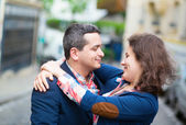 Couple looking to each other — Stock Photo