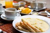 Omelette for breakfast — Stock Photo