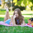 Girl in park — Stock Photo