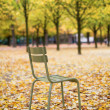 Typical park chair in the Luxembourg Garden. Paris — Stockfoto
