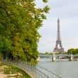 Parisian cityscape with the Eiffel tower — Stock Photo #35948407