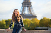 Young girl in Paris — Stock Photo