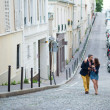 Stock Photo: Couple walking in Paris together