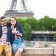 Stock Photo: Happy couple in Paris