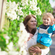 Mother and son enjoying spring day — Stock Photo #38065369