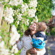 Mother and son enjoying spring day — Stock Photo