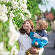 Stock Photo: Mother and son enjoying spring day
