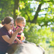 Mother and son having fun together — Stock Photo