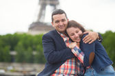 Dating couple in Paris — Stock Photo