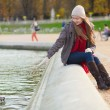 Stock Photo: Girl enjoying sunny spring day in Paris