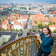 Stock Photo: Girl on the top of Vor Frelsers Kirke
