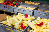 Delicious vegetables on a market — Stock Photo