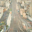 Aerial view of the railways near Monparnasse in Paris — Stock Photo