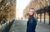 Young woman outdoors on a spring day — Стоковое фото