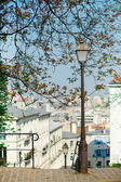 Lantern on Montmartre in Paris — Stock Photo
