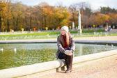 Girl in  Gardens of Luxembourg — Stock Photo