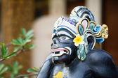 Traditional Balinese God statue in Ubud temple — Stock Photo