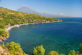 Scenic view of Agung volcano from Amed village — Stockfoto