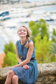 Happy young girl at Le Suquet in Cannes — Stock Photo