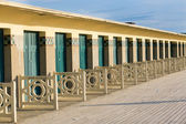 Beach huts in Deauville, France — Stock Photo