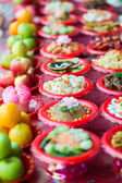 Food plates prepared for the believers — Stock Photo