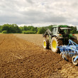 Plowed land. - Stock Photo