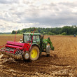 Sowing on the field. - Stock Photo