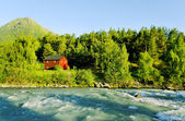 Camping at the river. — Stock Photo