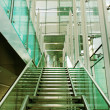 Stair in a glass building. - Stock Photo