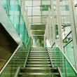 Stock Photo: Stair in glass building.