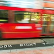 Red bus on the London street. — Stock Photo
