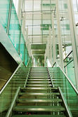Stair in a glass building. — Stock Photo