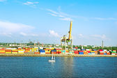 Container terminal. — Stock Photo