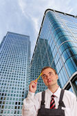 Building and businessman.. — Stock Photo