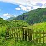 Gate to the mountains. — Stock Photo