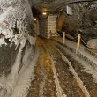 Stock Photo: Corridor in salt mine.