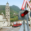 Bernina express on the street. — Stock Photo