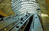 Escalator with people in metro. — Stock Photo