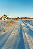 Country road in a winter. — Stock Photo
