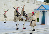 Greek Presidential guard change. — Stock Photo