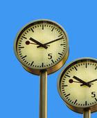 Clock in Canary Wharf. — Stock Photo
