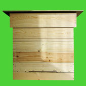 Project of wooden beehive. — Foto Stock