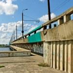 Island bridge in Riga. — Stock Photo