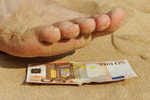 Pedicure for fifty euro. — Stock Photo